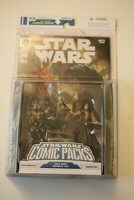 Star Wars Action Figure Comic Pack 13 Commander Faie & Quinlan Vos  with book 82
