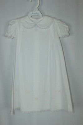 Auraluz NB Newborn NWT Floral Embroidered Lace Baptism Christening Day Gown (Embroidered Floral Christening Gown)