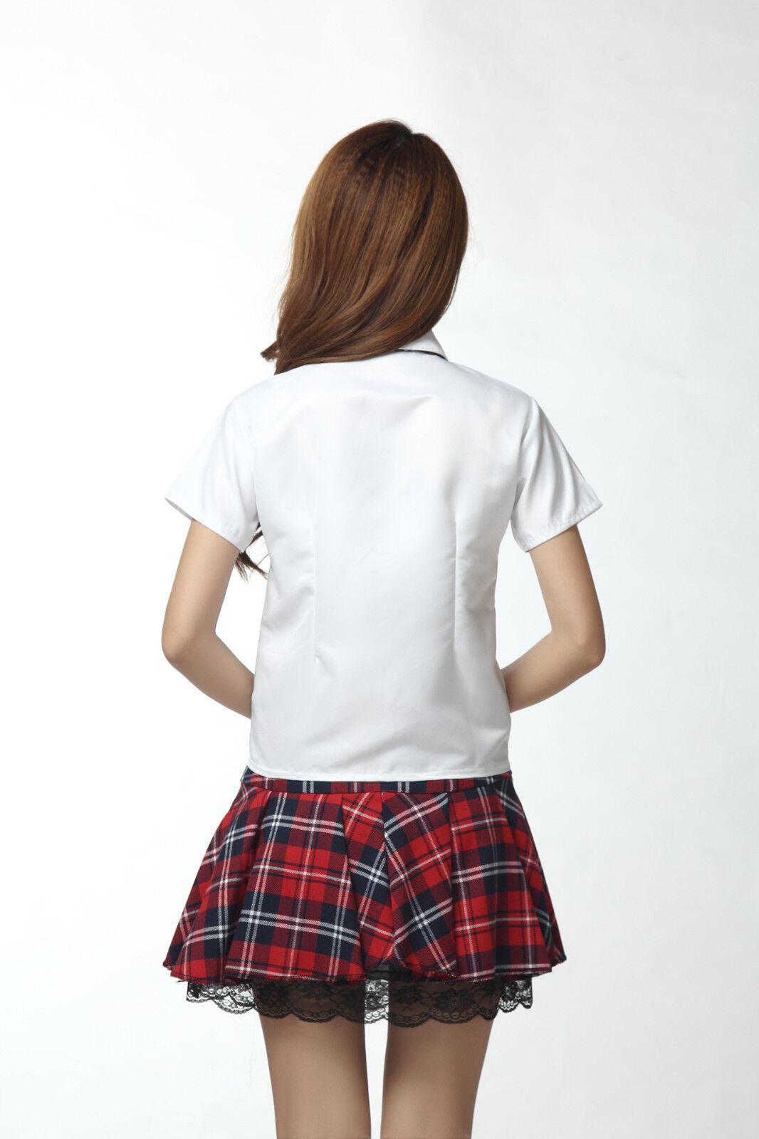 Купить Unbranded - Korean Japanese School Girl Student Uniform w/Suit Jacket Cosplay Costume White