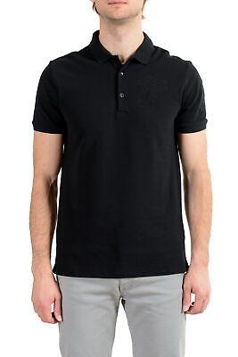 Versace Collection Men's Black Logo Short Sleeve Polo T-Shirt