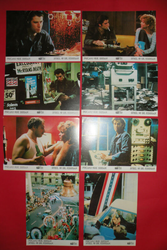 BLOW OUT 1981 BRIAN DE PALMA JOHN TRAVOLTA MISTERY UNIQUE  EXYU LOBBY CARDS SET