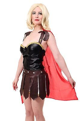 Amazone Gladiatorin Rom Antike Kriegerin Sparta Römerin L077  (Krieg Kostüm)