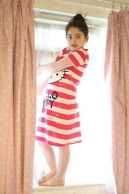 Girls HELLO KITTY M & S nightie short sleeve pyjama 7 8 9 10 years