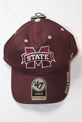 Mississippi State '47 NCAA Frost MVP Adjustable Hat Dark Maroon - Maroon Ncaa Hat