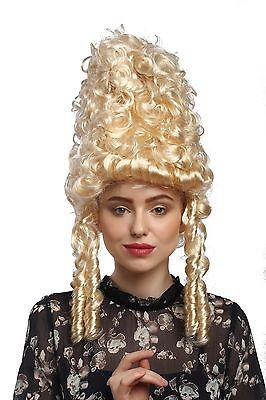 val Historisch Barock blond Marie Antoinette Turmfrisur (Marie Antoinette Perücke)