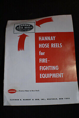1956 Hannay Hose Reels For Fire Fighting Equipment Catalog