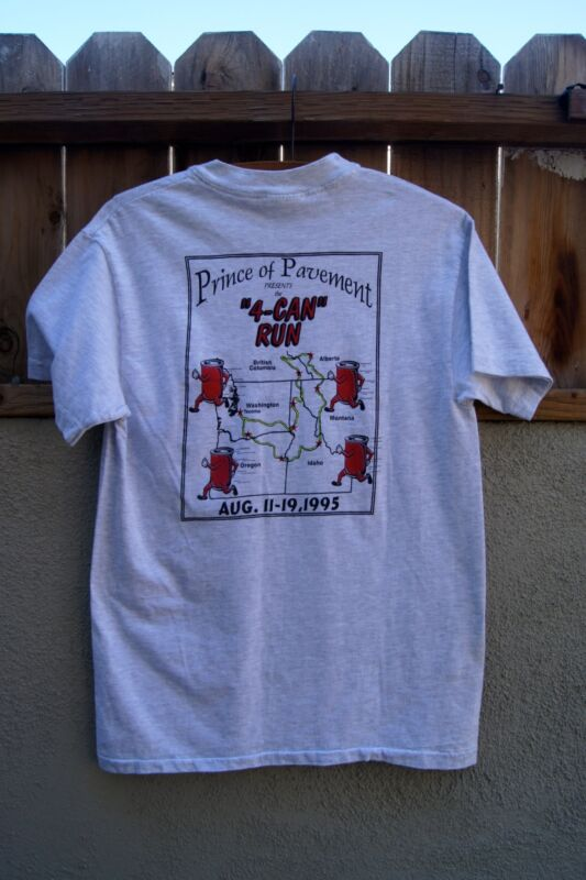 "VINTAGE 1995 T-Shirt Prince of Pavement ""4-CAN RUN"""