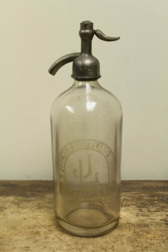 Vintage A. Fischer Bottling Works Buffalo, NY Seltzer Bottle