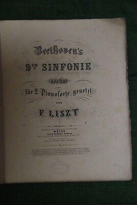 Partition ancienne  Beethoven 9e symphonie  Mainz Schott's Söhnen XIXe siècle