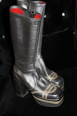 Original mens vintage platforms size 9-10 UK bowie 1970s Glam rock boots shoes