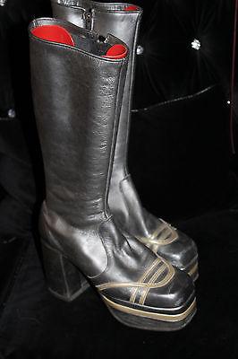 Original mens vintage platforms size 9-10 UK bowie 1970s Glam rock boots shoes