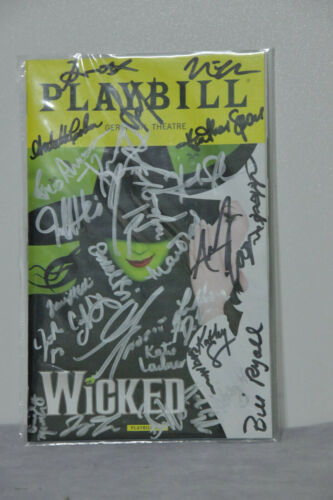 Wicked Signed Autographed Cast Playbill In Plastic Sleeve (DD5697)