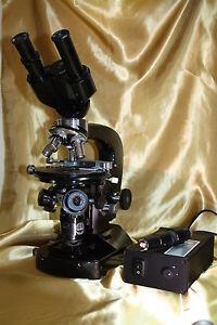 Mikroskop-Beleuchtung LED- LZKK 22 mit Trafo für Mikroskop Lumipan Zeiss Jena