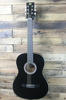 Rogue Starter Acoustic Guitar, BLACK  7/8 size - Return, plays great #R3010