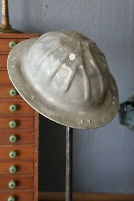 Vintage B.f. Mcdonald Aluminum Hard Hat Safety Bump Hat Silver Us Military Miner