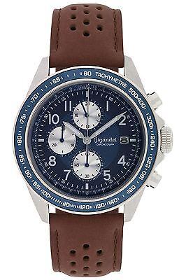 Gigandet Racetrack Herrenuhr Chronograph Datum Lederarmband Braun Blau G24-009 online kaufen