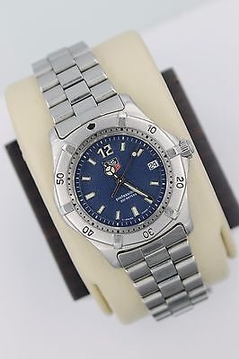 Tag Heuer WK1213.BA0318 BLUE 2000 Classic SS Watch Womens Mens Midsize MINT Face