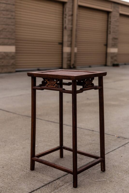 Vintage Antique Chinese Carved huanghuali Table