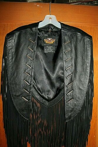 Harley Davidson Leather Cape/Vest with Fringe