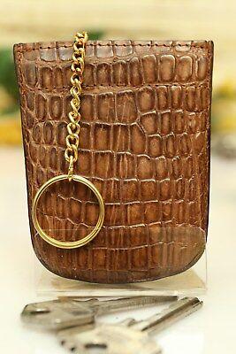 Schlüsseletui KRALLE - Echtes Krokodil Leder! IRV NEU! Key holder NEW! n700 700 Etui