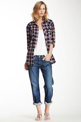 ANTHROPOLOGIE AG Jeans Birch Blue Stretch Denim Simona Easy Straight Leg Jeans