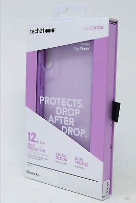 Tech21 Evo Check Case for Apple iPhone XR - Orchid Purple NEW