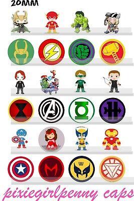 End Games Marvel Super Hero Babies & Shields 20mm-24 Precut Circle Images](Baby Hero Games)