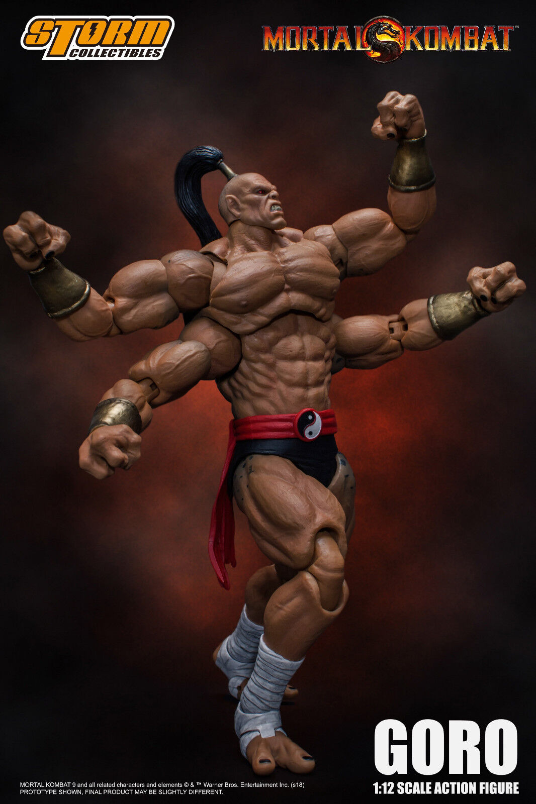 Goro Mortal Kombat Storm Collectibles 1:12 Action Figure AUTHENTIC IN STOCK USA