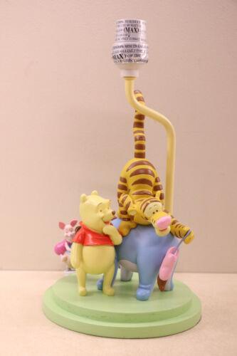 Disney Winnie The Pooh Wooden Nursery Lamp Colorful Tigger Eeyore Piglet & Pooh