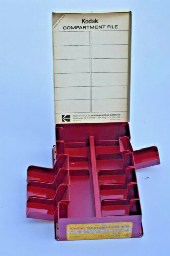 Kodak 35mm Slide File Storage Box Case Red - Five available