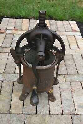 Enterprise Fruit Lard Wine Press Sausage Stuffer Cast Iron Vintage 2114