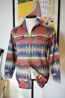 Stunning Polo Ralph Lauren Brushed Cotton Indian Head Shirt Size M RRL Aztec