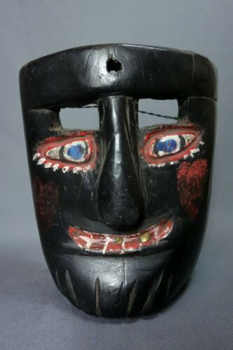 Vintage Antique Hand Carved Gracejo Dance Mask from Guatemala