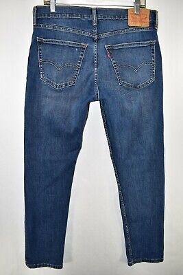 Levi's 502 Regular Taper Stretch Jeans Mens Size 33x32 Blue Meas. 33x30.5