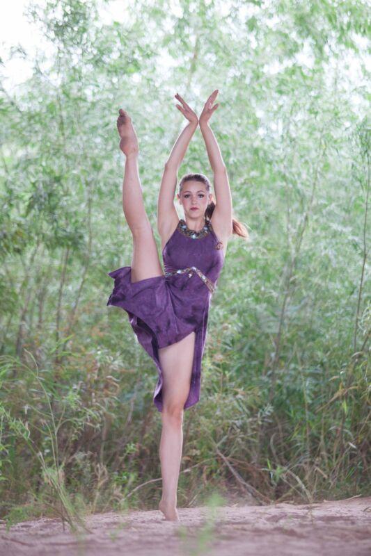 Contemporary ballet costumes~ Arabian, 1 dress or set of 6, plum/gold