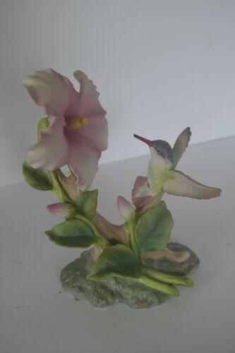 Vtg Porcelain Bird Hummingbird  Figure Homco Flowers Home Interiors Glory Nature