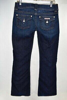 Hudson Signature Petite Bootcut Flap Pocket Jeans Size 28 Stretch Meas. 31x30