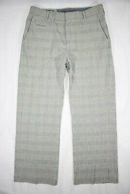 G-Star Raw Plaid Pants 33 S/E 1101 S.C.Navy Chino Men's Button Fly 33x30
