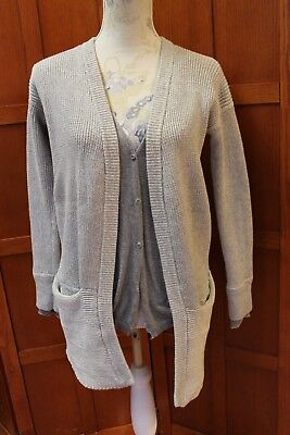 Lululemon Sweater Vestigan Knit Cardigan Jacket Gray 4 S Small