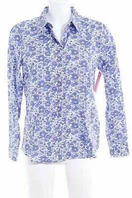 MAYFAIR LONDON Langarm-Bluse Blumenmuster Casual-Look Damen Gr. DE 40 weiß