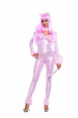 Sexy Starline Sweet Pink Panther Feline Cat Catsuit 3pc Costume S3219