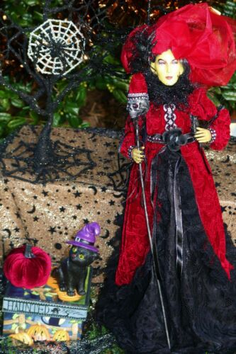 """HALLOWEEN large WITCH doll 24"""" in RED outfit"""