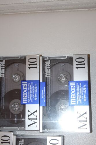 5 Pack MAXELL MX 110 Type IV Metal Position Bias Blank Cassette Tapes BRAND NEW