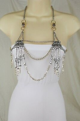 Women Necklace Halloween Fashion Goth Body Chain Jewelry Harness Skeleton Skulls