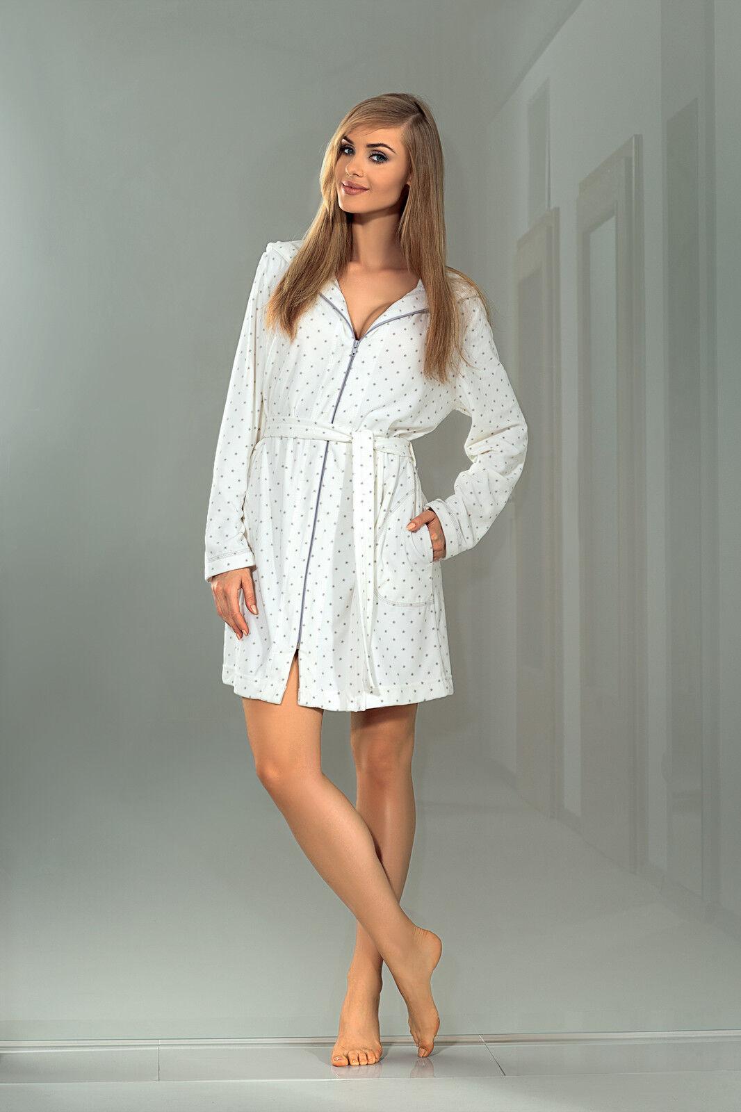 Women Luxury SOFT Bath Robe Dressing Gown Bathrobe with Zipper, Hood ...
