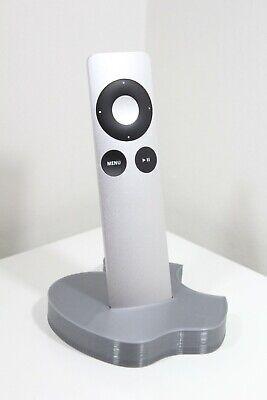 Apple TV Remote Control Dock Holder 3D Printed Older Style - Silver