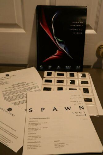 1997 RARE Spawn Movie New Line Cinema Critic Press Kit W/ 16 Slides