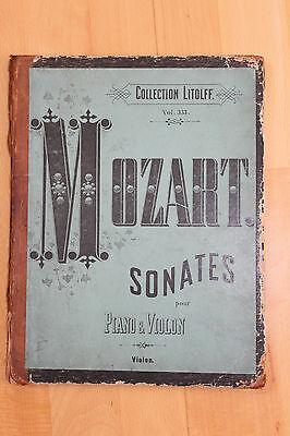 Noten Mozart Sonates 1. - 18., Klavier und Violon, von ca 1910