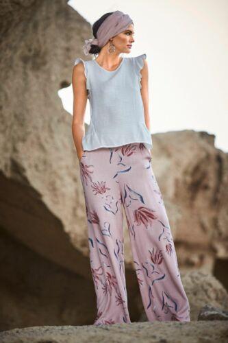 VILA clothes Palazzohose Hose Printhose Weites Bein Rosé Geblümt  Neu