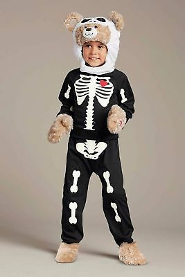 NIP ~Build-a-Bear Skeleton Costume ~ Chasing Fireflies Halloween Size 4](Build A Skeleton)